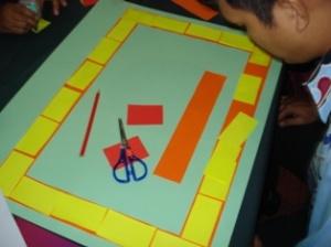 Tapak permainan di bina berasaskan nombor dan bentuk yang telah dipelajari murid
